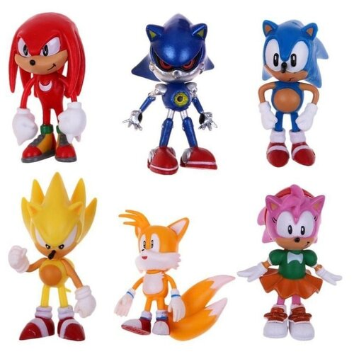 Купить Комплект фигурок Sonic / Соник (6шт 6-7см в пакете), BIOWORLD, Игровые наборы и фигурки