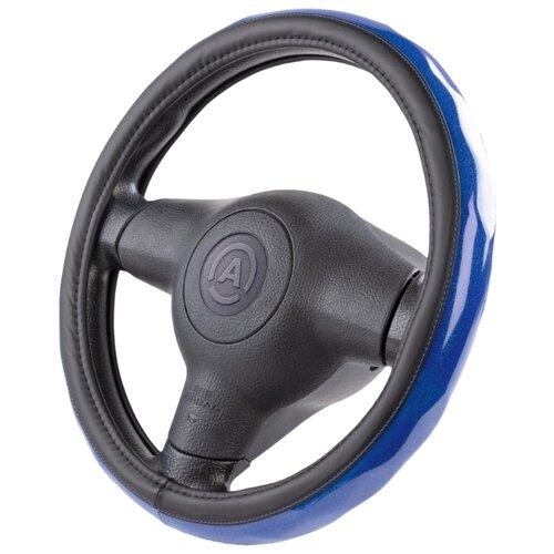 цена на Оплетка/чехол AUTOPROFI AP-1933 BK/BL (M) черный/синий