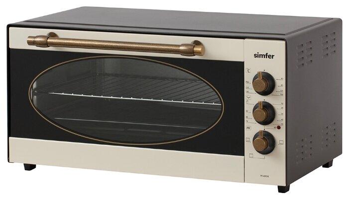 Мини-печь Simfer M4016 Classic Plus, 3 режима работы, верхний и нижний нагрев