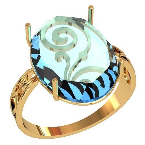 Фото - Приволжский Ювелир Кольцо с 1 алпанитом из серебра с позолотой 262536-FA77, размер 19.5 приволжский ювелир кольцо с 1 алпанитом из серебра с позолотой 272158 fa77 размер 18