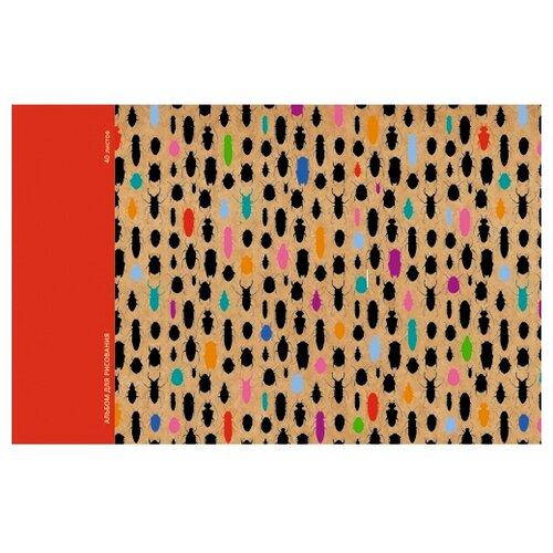 Купить Альбом для рисования Канц-Эксмо Яркие жуки Орнамент 29.7 х 21 см (A4), 120 г/м², 40 л., Альбомы для рисования
