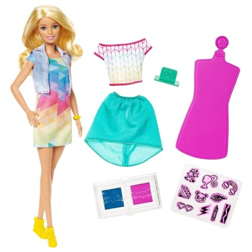 Кукла Barbie Крайола Цветной сюрприз, 28 см, FRP05, Куклы и пупсы  - купить со скидкой