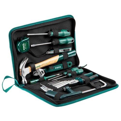 Набор инструментов SATA (19 предм.) 04110 черный набор инструментов sata 53пр для электротехнических работ 09535