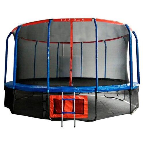 Каркасный батут DFC Jump Basket 14FT-JBSK-B 427х427х265 см красный/синий каркасный батут dfc jump sun 40inch js b 100х100х22 5 см синий