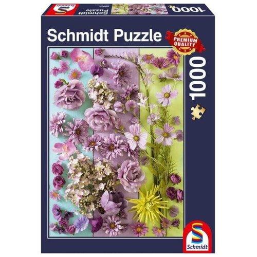Фото - Пазл Schmidt Фиолетовые цветы (58944), 1000 дет. пазл schmidt цветочные сердца 58327 2000 дет