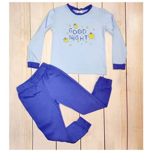 Пижама Mivilini размер 104, синий/голубой