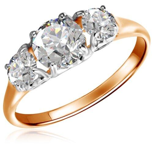 Бронницкий Ювелир Кольцо из красного золота Д0268-017567, размер 16.5 бронницкий ювелир кольцо из красного золота д0268 017060 размер 17