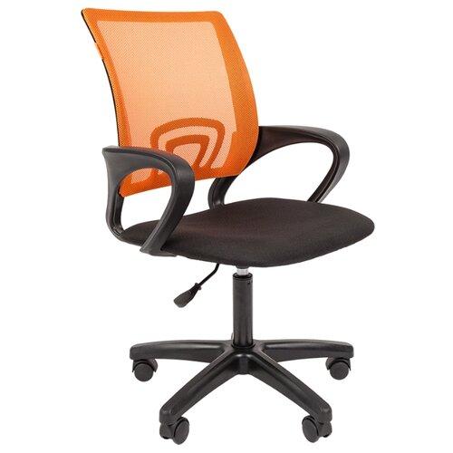 Компьютерное кресло Chairman 696 LT офисное, обивка: текстиль, цвет: оранжевый