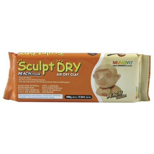 Купить Полимерная глина MUNGYO Sculpt Dry персиковая, 500 г, Глина