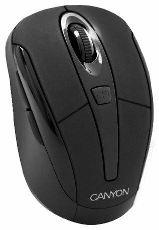 Мышь Canyon CNF-MSOW01B Green series Black USB