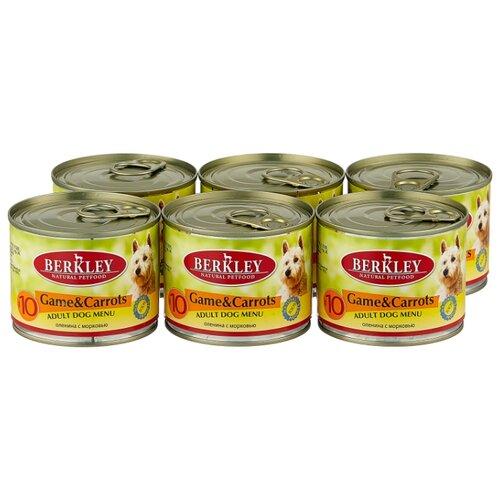 Фото - Влажный корм для собак Berkley (0.2 кг) 6 шт. Паштет для собак #10 Дичь с морковью 6шт. х 200г влажный корм для собак berkley 0 4 кг 6 шт паштет для собак оленина с коричневым рисом 6шт х 400г