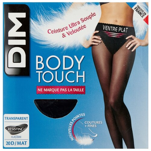 Колготки DIM Body Touch Ventre Plat 20 den, размер 1, noir (черный) fr0338 plat