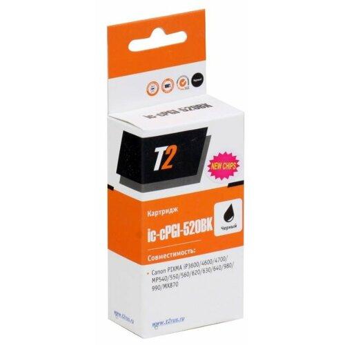 Картридж T2 IC-CPGI-520BK, совместимый картридж t2 pgi 35 черный [ic cpgi 35]