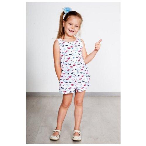 Фото - Полукомбинезон Lika Dress Фиеста 3773 размер 28, белый/голубой/красный платье lika dress размер 28 бежевый