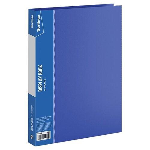 Купить Berlingo Папка с 40 вкладышами Standard A4, пластик синий, Файлы и папки