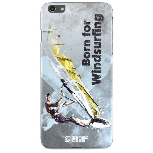 Фото - Чехол-накладка Sensocase 100076 + защитное стекло для Apple iPhone 6 Plus/iPhone 6S Plus виндсерфинг чехол накладка sensocase 100080 защитное стекло для apple iphone 6 plus iphone 6s plus лыжный спорт 2