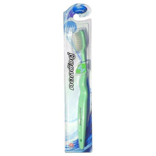 Зубная щетка Twin Lotus Мягкость и Чистота, зеленыйЗубные щетки<br>
