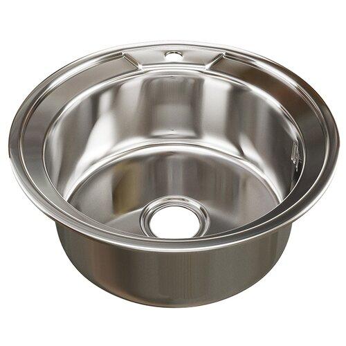 Врезная кухонная мойка 51 см Mixline d51 (0.8) 3 1/2 нержавеющая сталь/глянец врезная кухонная мойка 51 см mixline d51 0 6 3 1 2 нержавеющая сталь глянец