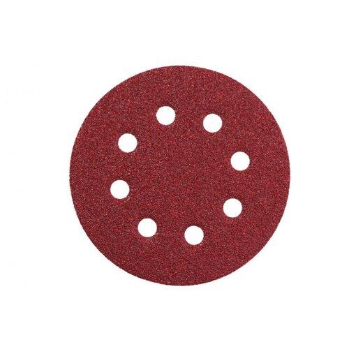 Шлифовальный круг на липучке Metabo 631227000 125 мм 5 шт круг шлифовальныйна липучке metabo 624041000 10 шт 80 мм р40
