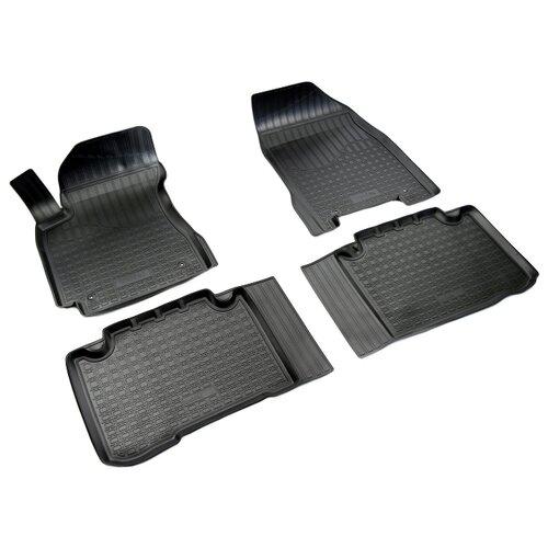 Комплект ковриков NorPlast NPA11-C24-082 4 шт. черный