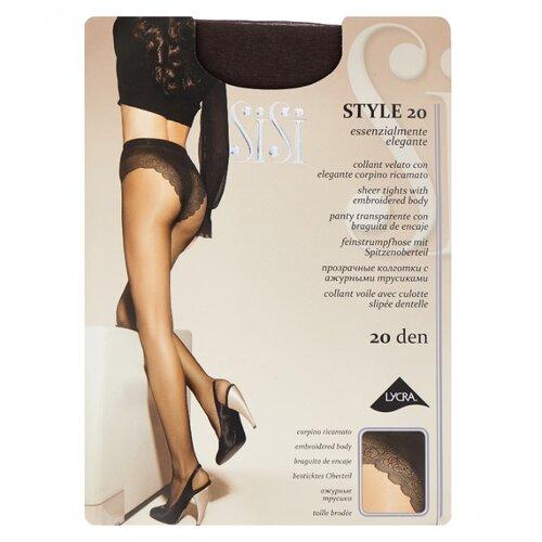 Колготки Sisi Style 20 den, размер 2-S, grafite (серый) колготки sisi style 70 den размер 4 l grafite серый