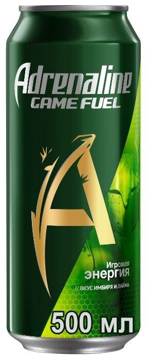 Adrenaline Rush Энергетический напиток Adrenaline Game Fuel лайм-имбирь