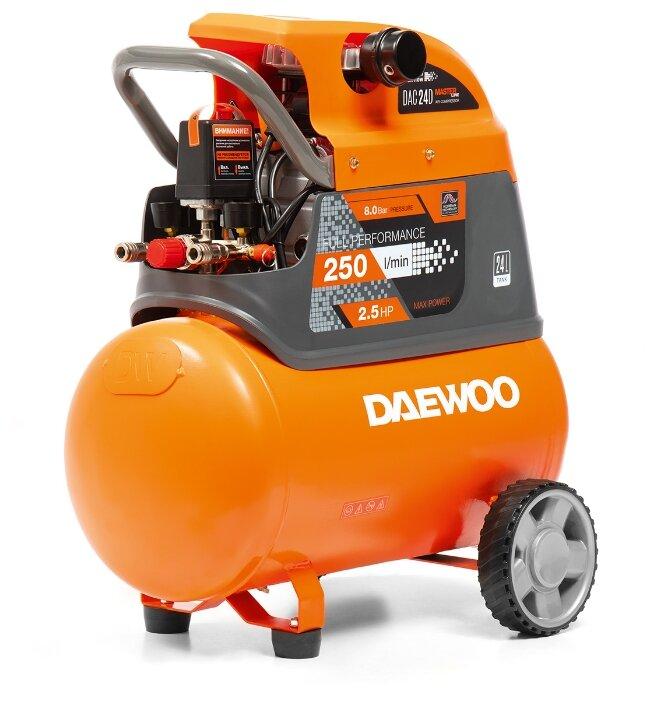 Компрессор масляный Daewoo Power Products DAC 24D, 24 л, 1.85 кВт