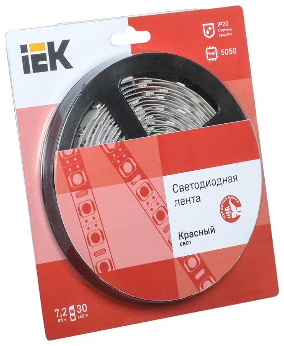 Светодиодная лента IEK LED LSR-5050R30-7.2-IP20-12V 5 м