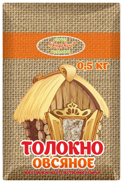 Толокно Эндакси овсяное, 0.5 кг