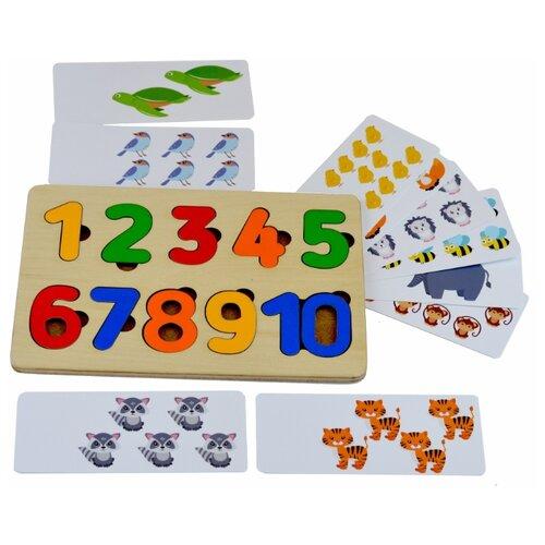 Купить Обучающий набор Raduga Kids Рамка-вкладыш Цифры с карточками RK1118, Обучающие материалы и авторские методики