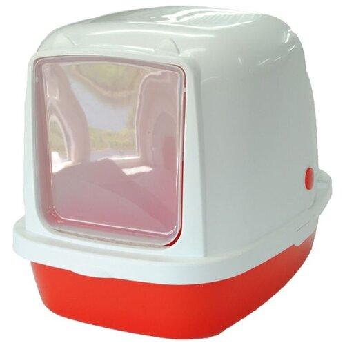 Туалет-домик для кошек Homecat 3519974/3519967/3519967_зеленый/3519950/3519943 53х39х48 см красный 1 шт.