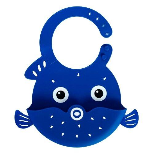 Mum&Baby Силиконовый нагрудник, 1 шт., расцветка: рыбка/синий elodie нагрудник трикотажный 1 шт расцветка sandy stripe