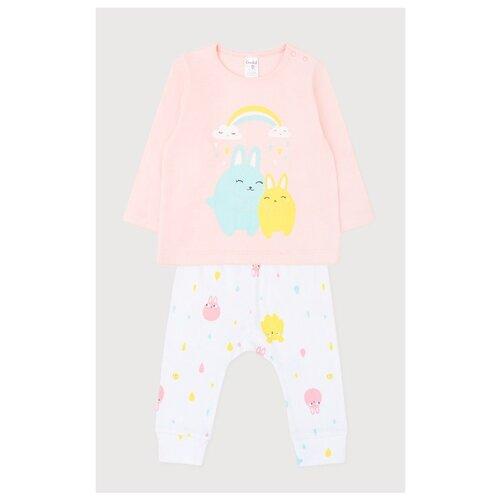 Фото - Комплект одежды crockid размер 74, лосось/белый комплект одежды crockid размер 74 белый розовый