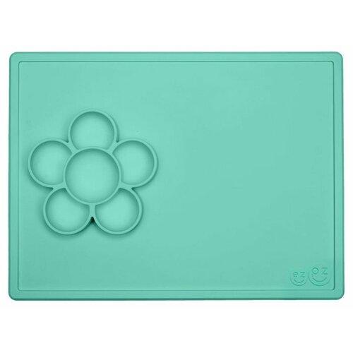 Тарелка EZPZ Flower play mat, mint, Посуда  - купить со скидкой