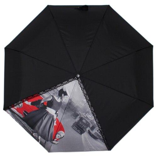 Зонт автомат FLIORAJ 20106 FJ черный рюкзак женский flioraj цвет черный 00058058