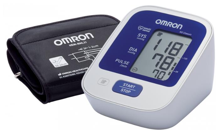 Тонометр Omron M2 Classic HEM-7122-ALRU + адаптер питания, универсальная манжета