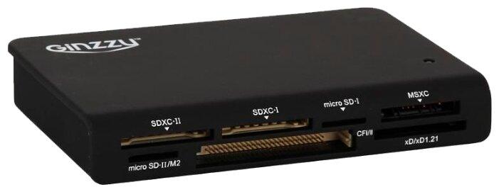 внешний картридер Ginzzu GR-336B USB 3.0
