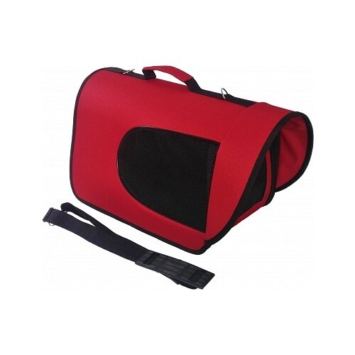 Сумка-переноска для кошек и собак LOORI Z8166/Z3519 46х28х29 см красный