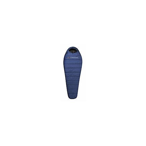 Спальный мешок TRIMM Traper 195 mid.blue с левой стороны