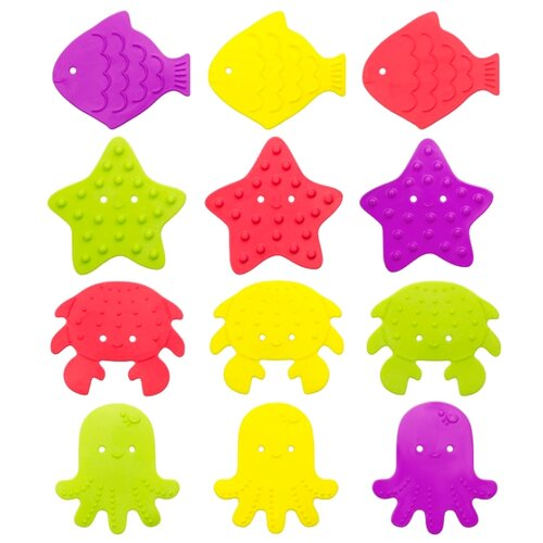 Купить Набор ковриков для ванны Roxy kids RBM-010-12 многоцветный, Сиденья, подставки, горки
