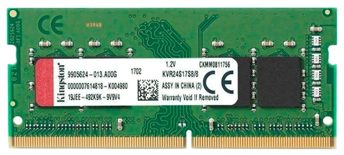 Kingston Оперативная память Kingston KVR24S17S8/8