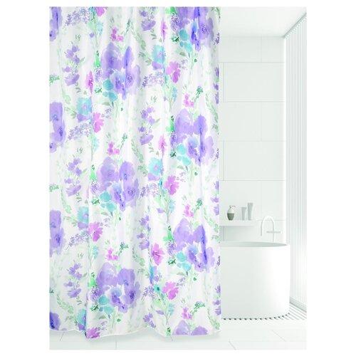 Фото - Штора для ванной Bath Plus Romantic Flower 180х180 белый/сиреневый/голубой tropical flower plus size bikini set