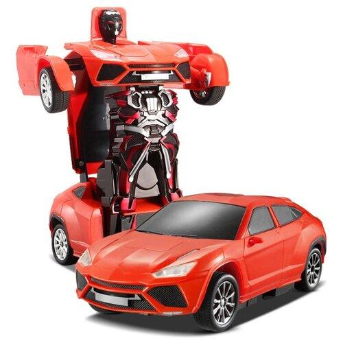 Купить Робот-трансформер 1 TOY Легковая машина оранжевый, Роботы и трансформеры