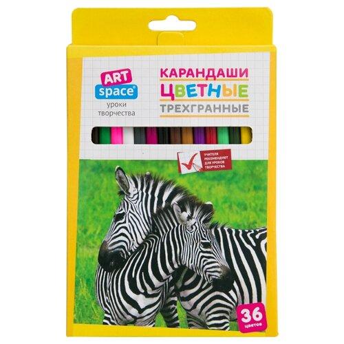 Купить ArtSpace Карандаши цветные Животный мир 36 цветов (245927), Цветные карандаши
