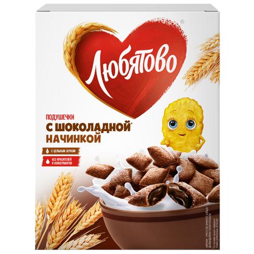 Готовый завтрак Любятово Подушечки шоколадные, коробка, 250 г