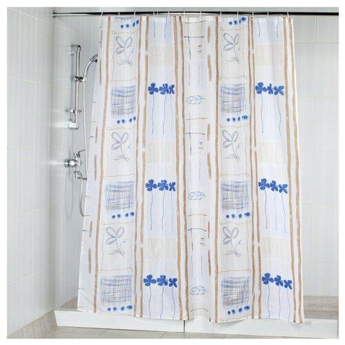 Штора для ванной Aquarius Пастель 180х200 голубой/бежевый штора для ванной joyarty праздничная карта 180х200 sc 5822