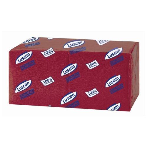 Купить Салфетки бумажные Luscan Profi Pack 1 слой, 24х24 бордовый, 400шт/уп