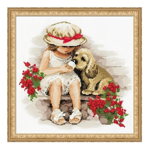 Купить Риолис Набор для вышивания крестом Сладкоежки 30 x 30 (1333), Наборы для вышивания