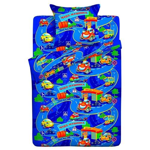 Постельное белье 1.5-спальное Letto Чудо-машинка 50 х 70 бязь машинка blaze вспыш чудо машинка цвет оранжевый