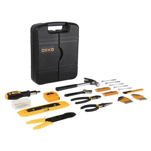Фото - Набор инструментов DEKO DKMT130, 130 предм., черный/желтый набор инструментов deko tz82 82 предм черный желтый